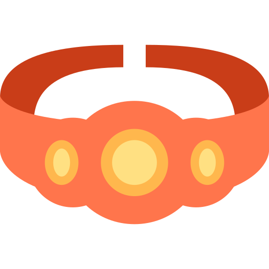 Championship Belt icon. The icon is shaped like a ring laying flat and the bottom of it is slightly open so the two ends don't totally connect. The front of the ring has 3 circles. The one in the middle is twice as big as the two other circles on the left and right of it.