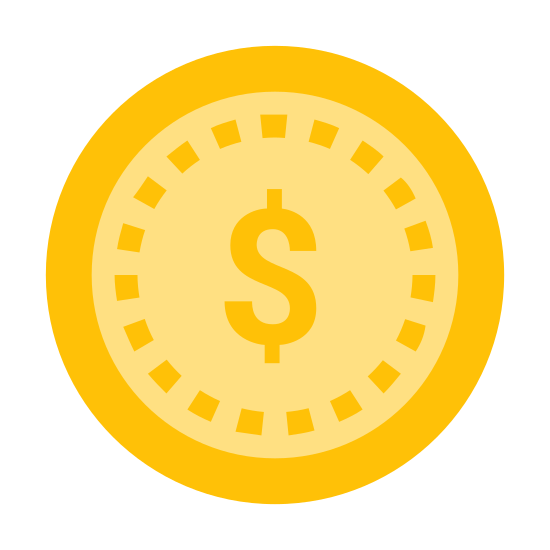 Cheap 2 icon. This icon is depicting the American dollar currency symbol enclosed within a circle. The dollar symbol itself depicted as a capital case 'S' with a line drawn from each end.