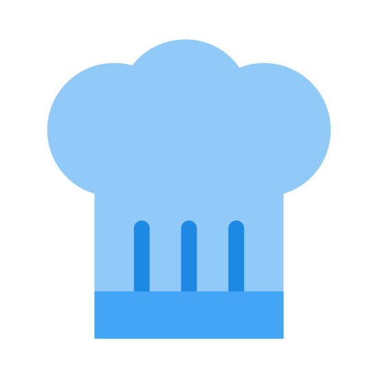 Chef Hat icon. This appears to be a cloud connected to the top of a square. in the center of the square, there's three small lines that are vertical. A long, horizontal line is along the bottom of the square.