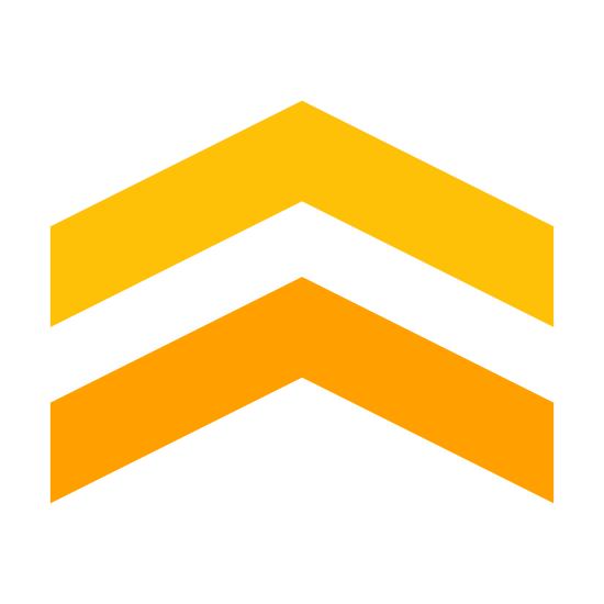 Chevron icon. This icon represents chevron, It is two triangle lines separated with one on top of the other and both pointing up. It is a really simple icon with just the two lines.