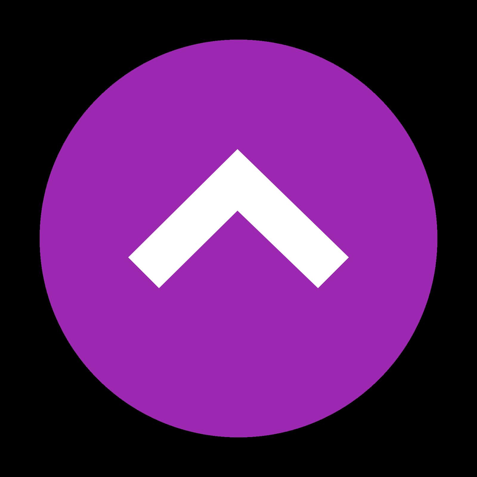 上 icon. The logo is an unfilled circle, and centered on the inside is a carat simple. The carat symbol is pointed in the upwards direction, like an arrow without a tail. The carat is centered on the inside of the circle.