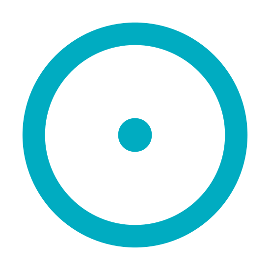 Select icon. There is a circle. The circle contains a filled dot. The dot is in the center of the circle. The circle is not filled out. The dot is of a round shape.