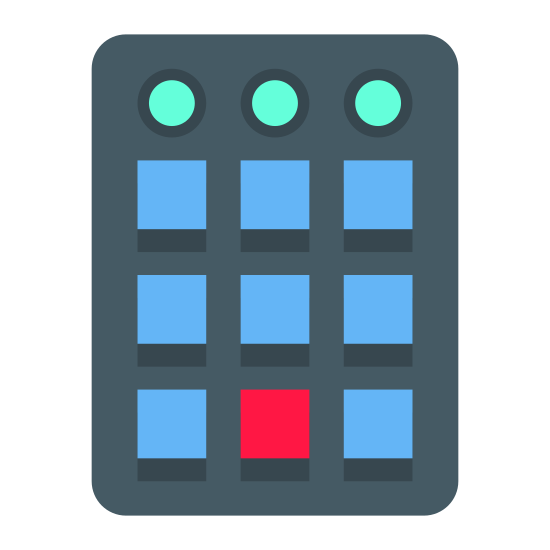 Control Panel icon. The control panel icon is a rectangle shape and in the shape there will be another rectangular shape outside to have a 3 dimensional view. Inside the rectangles, there will be many tiny rectangles to represent the buttons that control different things.