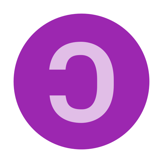 "Copyleft icon. The Copyleft icon is a circle with a backwards letter ""C"" placed in its center. The ""C"" is a block letter, so it is really the outline of a ""C"" with blank space in between the lines."