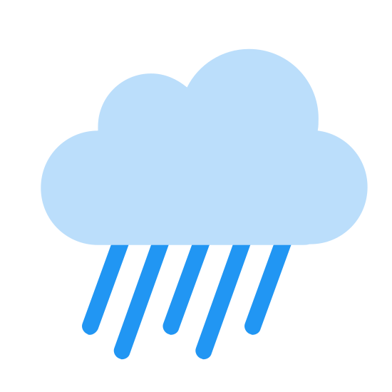 Ulewa icon. Its an icon for a raincloud. Its a logo with a cloud and from the bottom of that cloud are three diagonal lines coming from it which are meant to resemble rain.