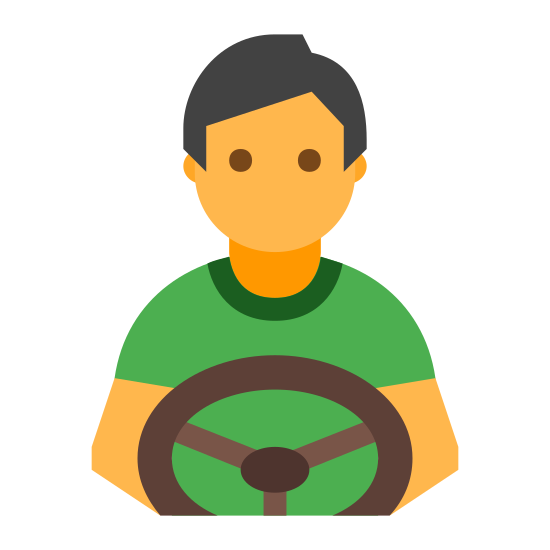 Kierowca icon. The logo kind of looks like a person. There is a circle on the top depicting a head, and directly below it is a hexagon with a semi circle cut out of the bottom. Below that semi circle is another semi circle inside of it.