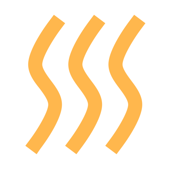 Сухой icon. It consists of three identical squiggly lines aligned parallel to one another. All three lines look some what like the letter 'S.' The curves are a bit smaller though, creating a more vertical shape.