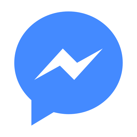Facebookのメッセンジャー icon. The icon is a simplified rendition of the Facebook Messenger logo. The icon is a speech bubble with a lightning-shaped scribble inside, indicating a speaker to the left. It is identical to the logo used to represent Facebook Messenger, a social media application.