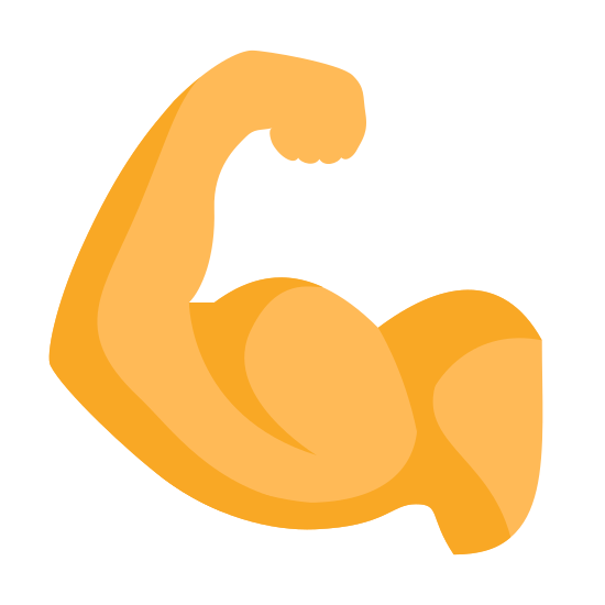 Muscle icon. The icon is a picture for the logo of Flex Biceps. The icon is a picture of a human beings arm. The arm has large biceps, which appear to be extended through the process of flexing.
