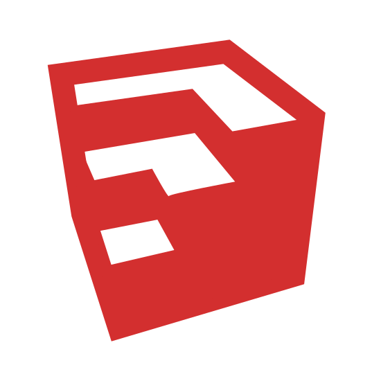 Google Sketchup icon. The icon is a simplified version of the Google Sketchup icon. Google Sketchup is a computer-assisted drafting tool often used in the modelling of houses and architecture. The icon itself is a large cube with successive cubes cut away from it.