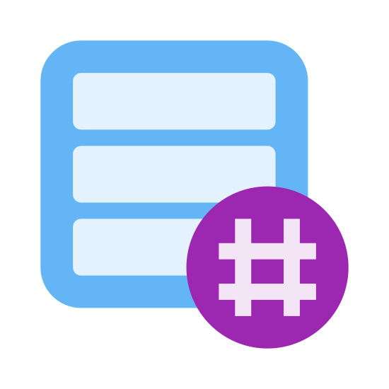 Hashtag Activity Feed icon. It's a logo of three long very thin horizontal rectangles one on top of another, except the bottom one has its right end missing with blank space and on top of the space a hashtag sign.