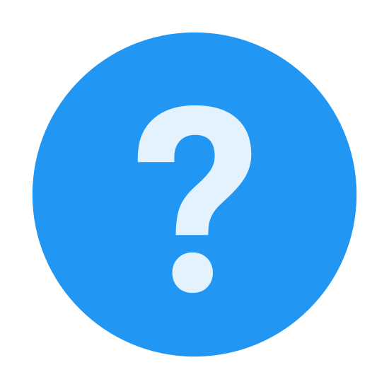 Hilfe icon. It is circle with a question mark in the middle. The question mark is very prominent and exactly in the center of the circle. It is pretty much like a button you would click if you wanted help on a topic, or an image you would see to find information.