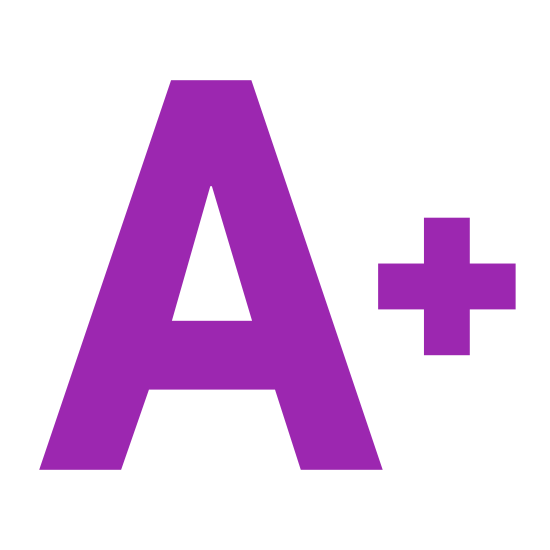 """Increase Font icon. It is an icon of a giant letter """"A"""" with a plus sign next to it. The letter """"A"""" is outlined as a block letter. The plus sign is much smaller than the letter."""