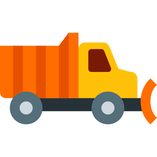 Снегоуборочная машина icon. It's a logo of Interstate Plow Truck reduced to a plowing truck. It looks like a normal truck except it has a big plow on the front grill for moving objects.