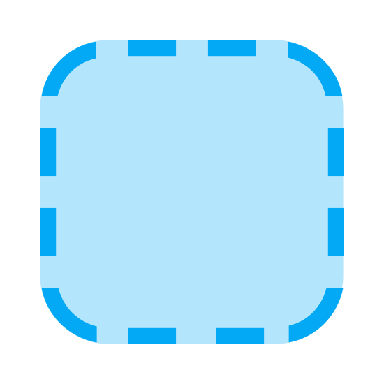 iOS Application Placeholder icon. It is a little place to put the IOS apps that you download. It is a square box made out of dotted lines where you can put your newly downloaded apps so that they will not be sprawled out all overy our home screen, creating pages and taking up space.