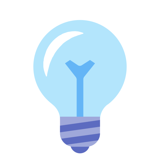 Light Off icon. This is a lightbulb indication to show that the light is turned off. It shows a lightbulb, with a large bulbous circle at the top which tapers off onto the bottom, and there's a large X in the middle to indicate the light is off.