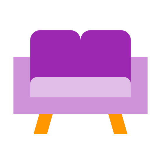 Living Room icon. It's a room of your house or apartment where you spend a lot of time relaxing. Usually people have a couch, chair or two, and a television in this room. When people have company over they will tend to congregate in this room as well.