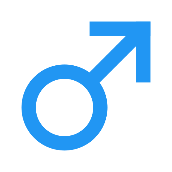 Male icon. This is a logo that represents the male gender. It is a circle with an arrow pointing to the upper right coming out of the upper right side of the circle.