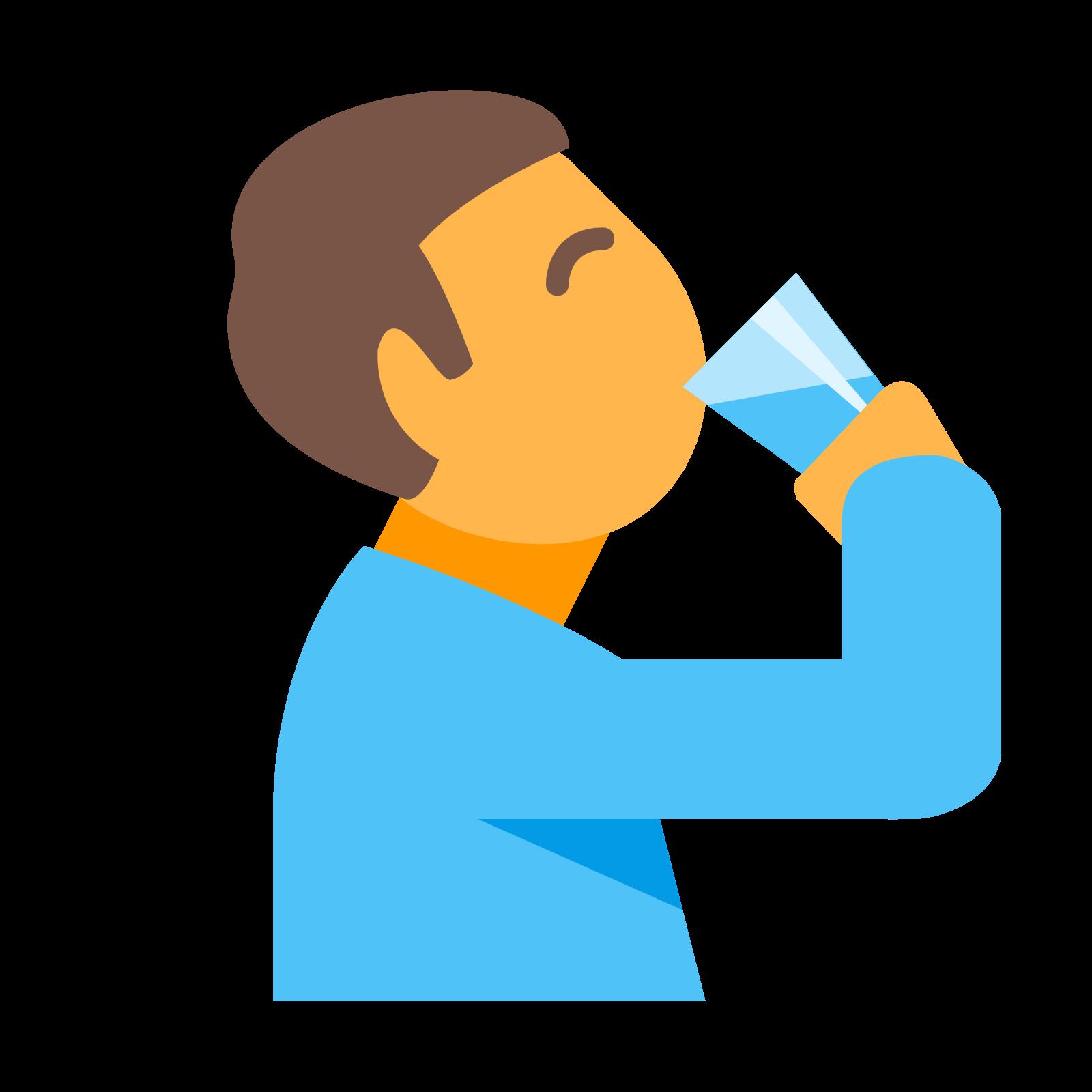 Man Drinking Water icon