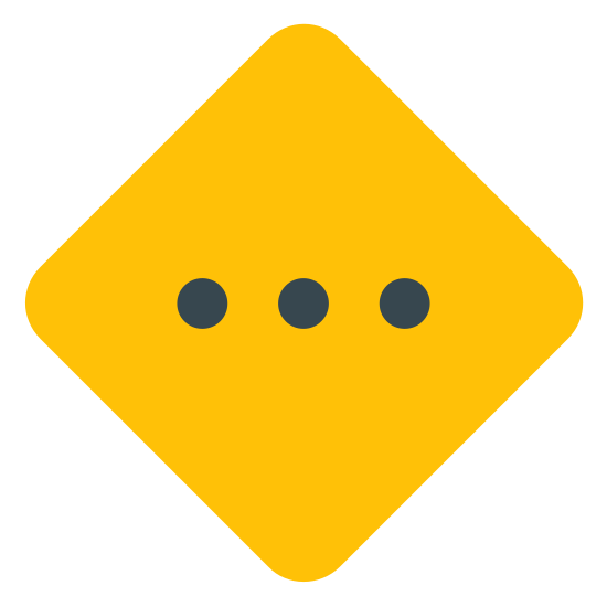 Medium Priority icon. The icon of Medium Priority looks a square turned sideways with the corners, resembling a baseball field. And within the square figure, there are three small dots in a straight line side by side in the middle.