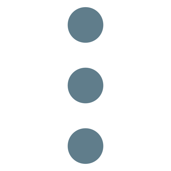Menu 2 icon. This is a picture of three circles stacked on top of each other. they are going in a vertical direction. they seem to be shaped like a traffic light almost.