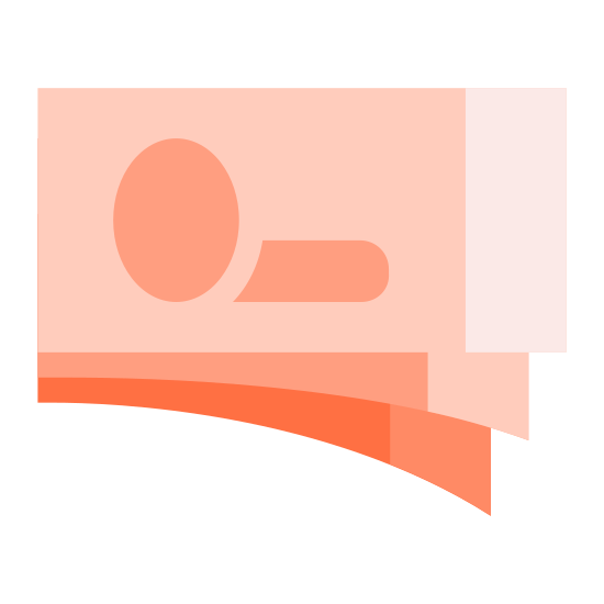 Money icon. Money is a currency that can either be circular in shape with rugged edges that are imprinted on it. Or rectangles with sharp edges, and very flat and very thin. It has things written on it to inform you of how much it is.