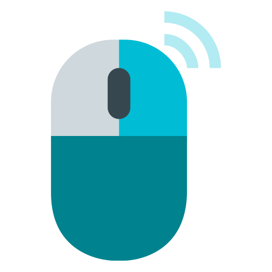 Mouse Right Click icon. The mouse right click button is a computer mouse with the right mouse button dotted. There are two horizontal lines emanating from the right mouse button that look like cell phone signal lines.
