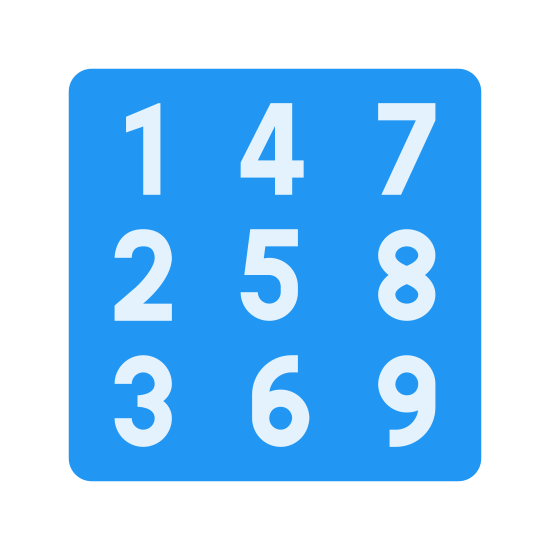 Square with Numbers icon