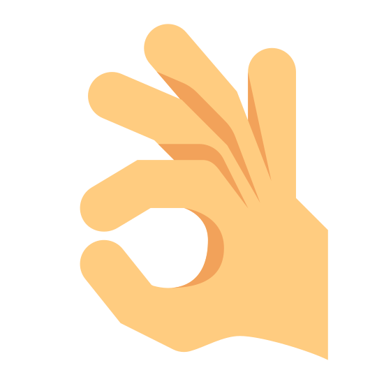 "Mão fazendo ok icon. This is a picture of a right hand giving the ""okay"" symbol with it's thumb and index finger. the other three fingers are sticking up but curved. the index finger and thumb are forming a circle"
