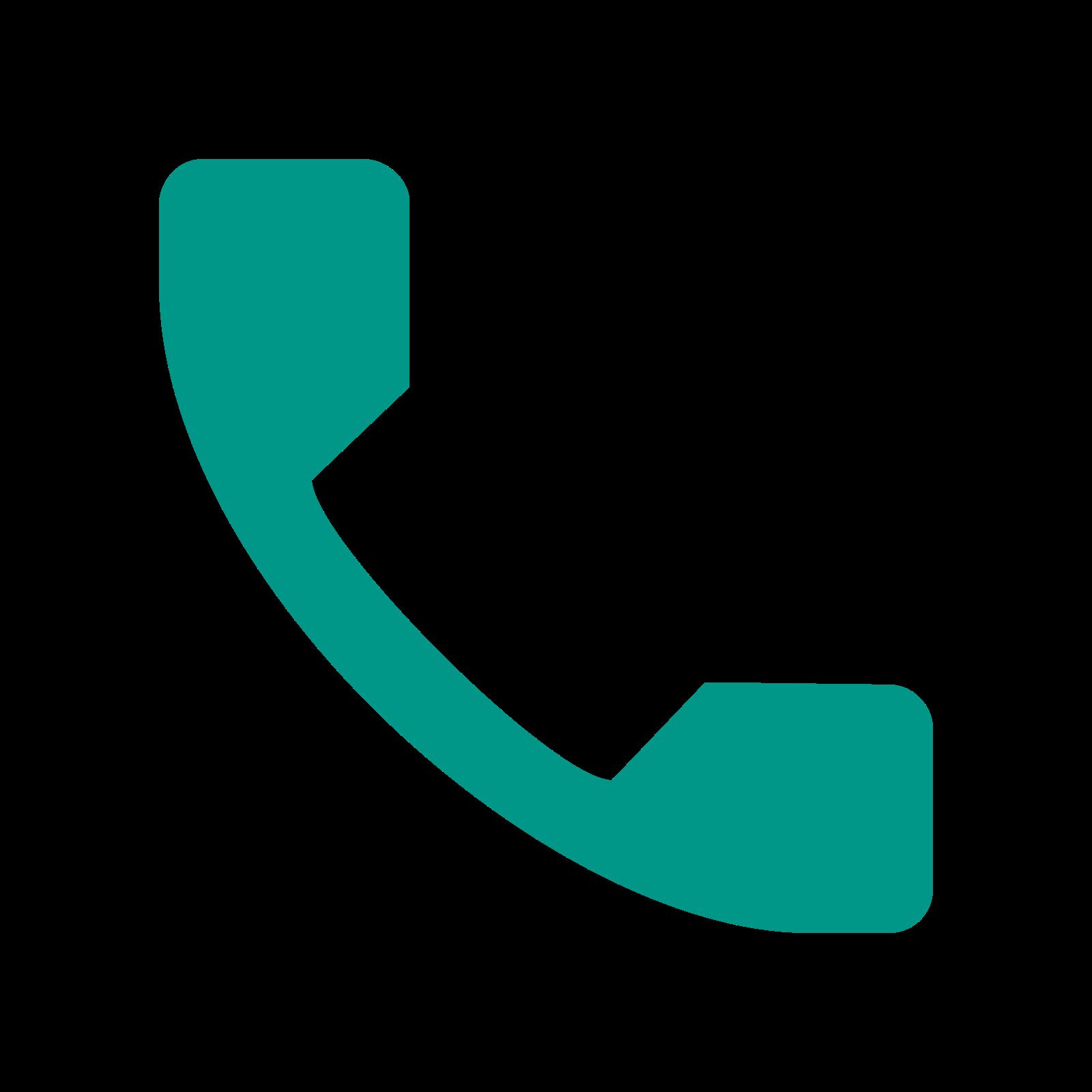 电话 icon. The icon shows a telephone receiver that would seen in 90's model telephone. The icon of the phone receiver has a curving handle with rectangular receiver and mouth piece of equal size.