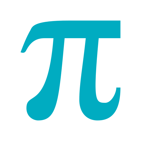 Pi icon. Pi, the mathematical symbol for the number 3.14 used heavily in trigonometry. A single horizontal line, with two vertical lines stretching underneath, and curving slightly outward from each other.