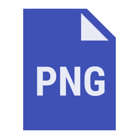 PNG icon. The icon resembles a piece of paper with the top right corner folded in toward the center as if folded with the fingers.  In the center of the piece of paper are the capital letters 'PNG'.