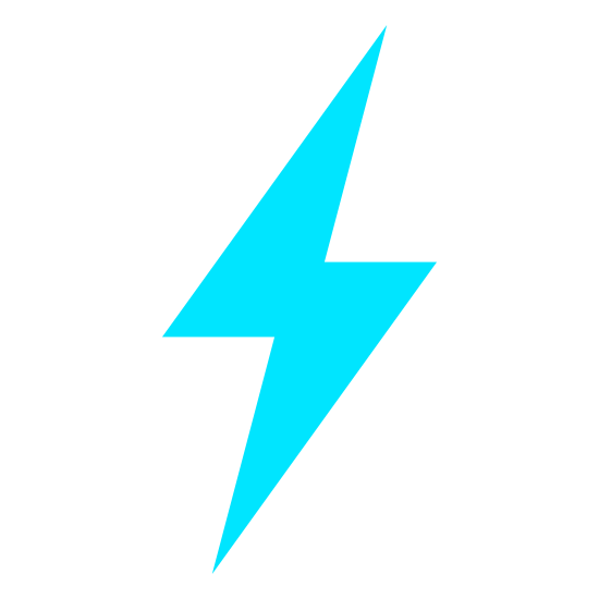 Quick Mode On icon. It's the picture of a lightning bolt to indicate electricity.  It is a single bolt of lightning, with no clouds or other features.  It looks like the image of an hourglass, tilted about 45 degrees up, and then stretched out until it resembles a lightning bolt.