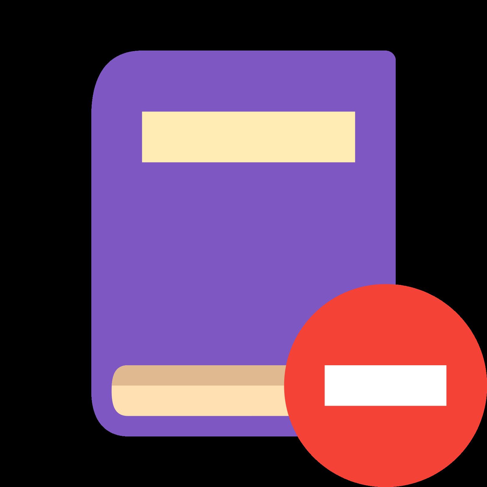 Remove Book icon