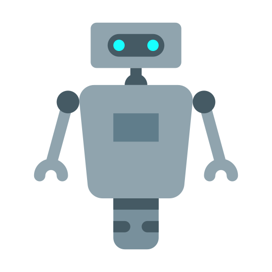 Science Fiction icon. It's a logo of Robot 3 reduced to a picture of an ordinary looking robot. Instead of mechanical legs, the robot has one singular wheel. Similar to the robot from the Disney movie Wall-E.