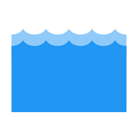 Sea Waves icon. The icon for sea waves is three lines that are drawn to represent the up and down motion that waves make when the ocean water is moving. The three likes are placed one under the other, because that way it looks like a body of water.