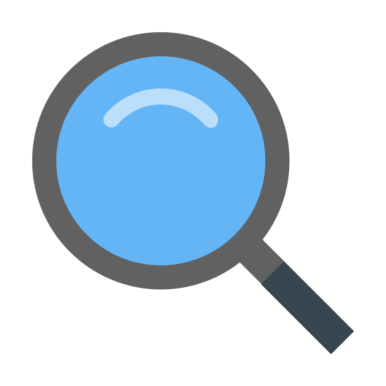 Búsqueda icon. This icon is supposed to represent a magnifying glass. It's a large circle with a fat line protruding out from the bottom of it at an angle. The line is meant to represent the handle of the magnifying glass while the circle represents the magnifier portion.