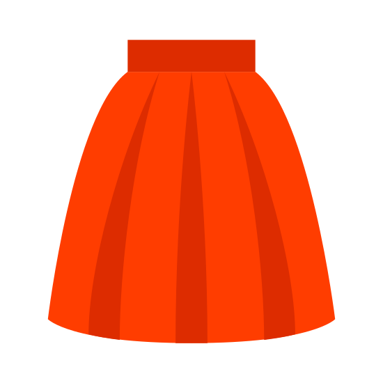 Skirt icon. This icon looks like a semi-square type shape. Its curved on the bottom and curved on the top. There is a line going through the top of the shape and two curved lines coming out of that one from the top left and right.