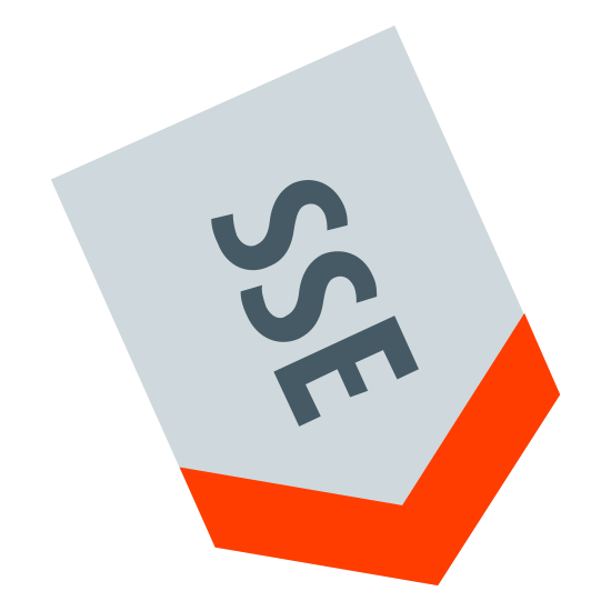 South South East icon. It's a logo of the South South East. It is pretty much reduced to the capital letters S, S, and E enclosed by a downward arrow. The arrow is the border of the logo.