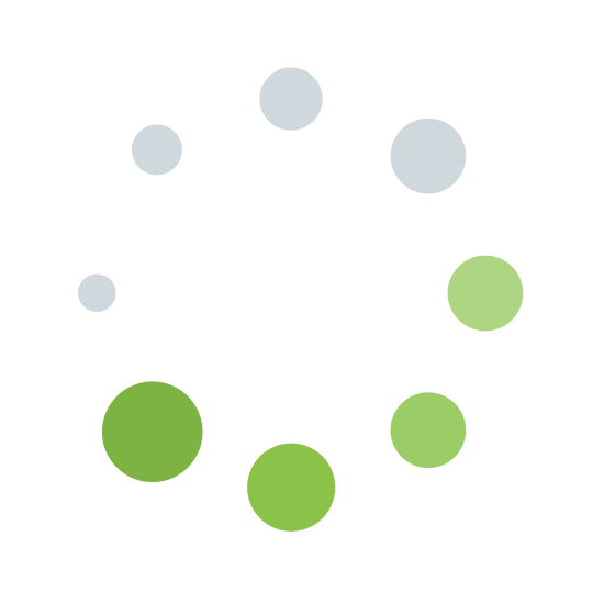 "Buffering icon. This icon for ""spinner frame 6"" is a group of eight circles. These circles are arranged to form a single large circle. The eight smaller circles are different in shape, with the smallest one being on the left, and each circle getting progressively larger in a clockwise manner."