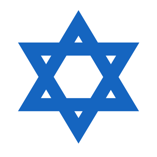 Star of David icon. This is two triangles going opposite ways that intersect but just instead of stopping go straight through one another. One overlaps it in a different length, to make the illusion of depth. It's three sides for a triangle, all lines that interject and come together in a diagnel pattern.