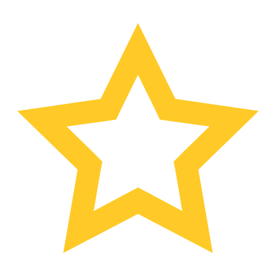 Star icon. A star has five pointed sides which are basically mini triangles all linked together at the seam. It is often seen in the sky at nighttime.