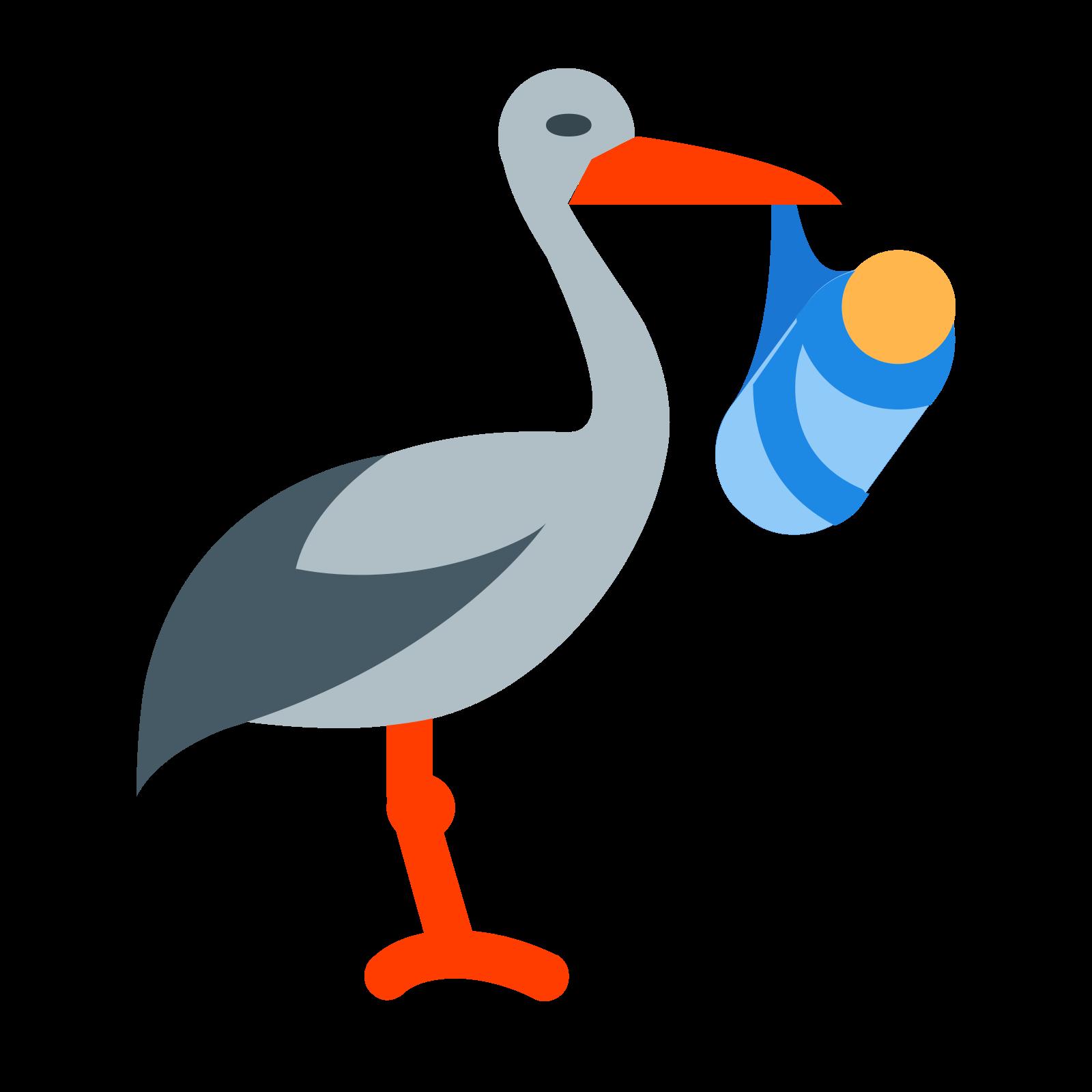 Bocian z paczką icon