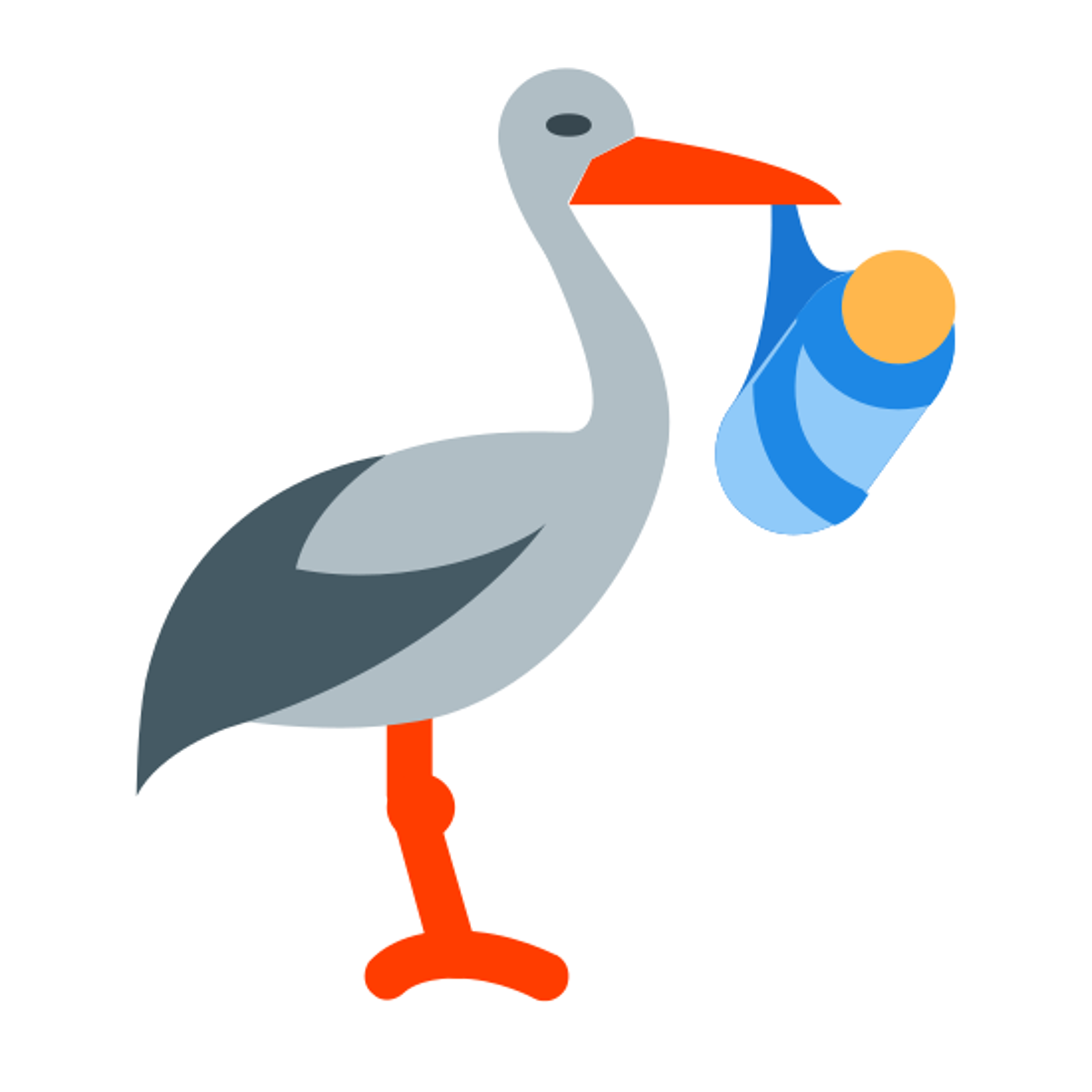 Cigogne portant un paquet icon