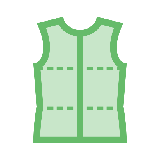 Tailor Shirt Pattern icon. This is a picture of a t-shirt that is made up of triangular patterns. it has a diamond near the chest/neck area, and a diamond near the torso. the rest are triangular shapes