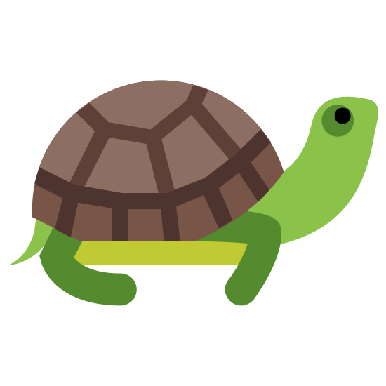 Turtle icon. An icon of a turtle is animal with a head and body with four legs. A turtle icon's distinctive feature is the shell, which is usually shown as a half circle because turtles are known for their shells.