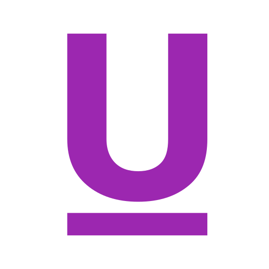 """Underline icon. The Icon """"Underline"""" consists of the outline of a capitalized letter """"U"""" in bold. Beneath his has been placed a bold line drawn horizontally signifying an underlined letter."""