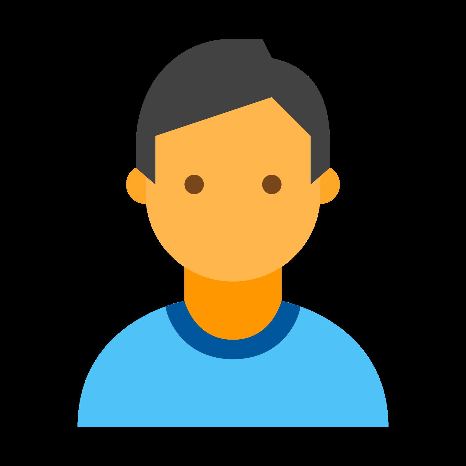 用户 icon. It is the drawing of an enclosed outline of the front profile of a person. The outline includes the head and shoulders. The outline looks like a man, or a woman with short hair.