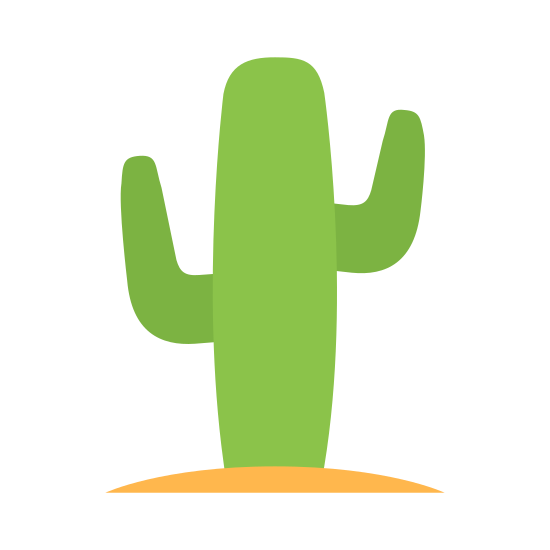 """Western icon. This """"Western"""" icon is an obelisk pointing towards the sky, with two """"arms"""" branching off both sides of it. It is representing a desert cactus."""