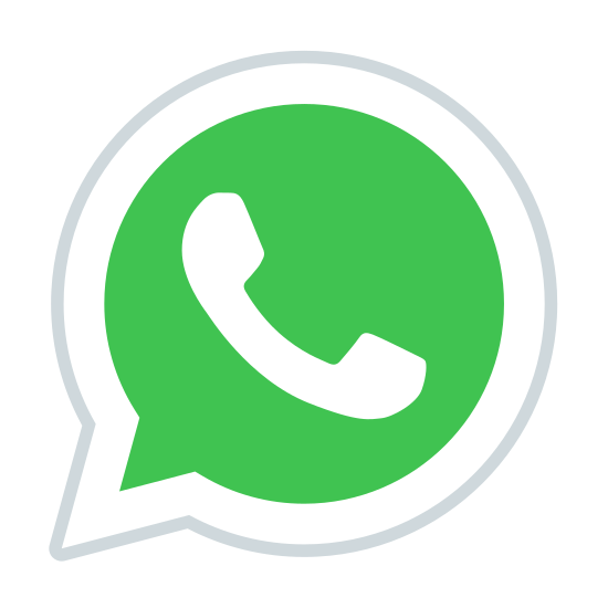 WhatsApp icon. This is the logo for WhatsApp. The logo is an old school telephone with the earpiece at the top with a handle in the middle and the microphone in the bottom. The phone is place inside of an air bubble that resembles a thought bubble.